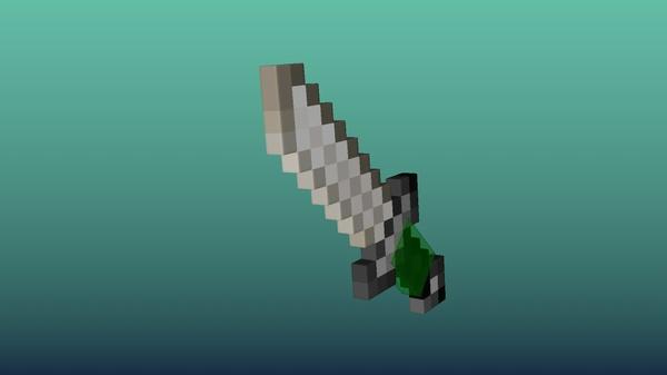 Minecraft Sword Model for Cinema4D