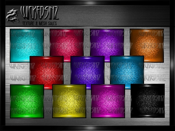 Pvc Glitter - 12 Textures - $3.00