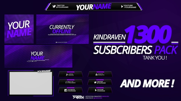 FREE REVAMP PACK FOR TWITCH ! THX FOR 1300 SUBS