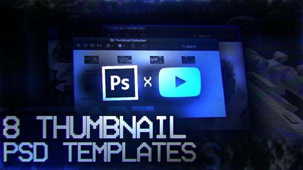 8 Thumbnail Template PSD's
