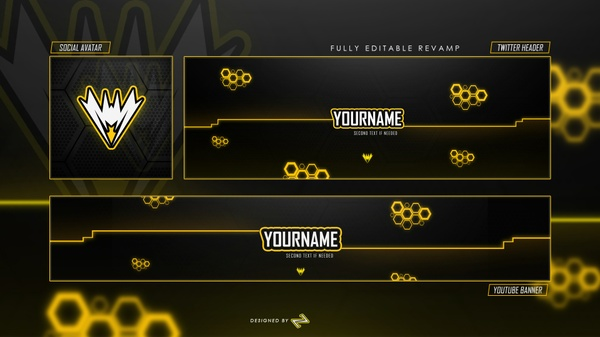 Free GFX: Free Youtube, Twitter & Avatar Revamp/Rebrand Template by LastZAK