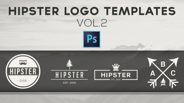 Free Hipster Logo Templates Vol.2