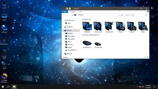 Alienware 3D Blue IconPack