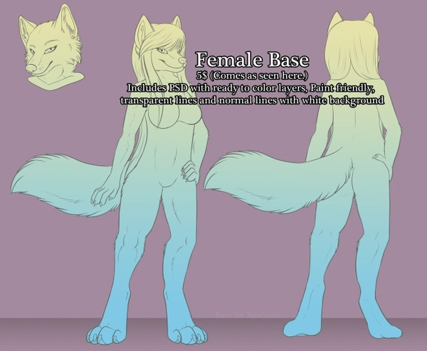 Female Canine Anthro Base