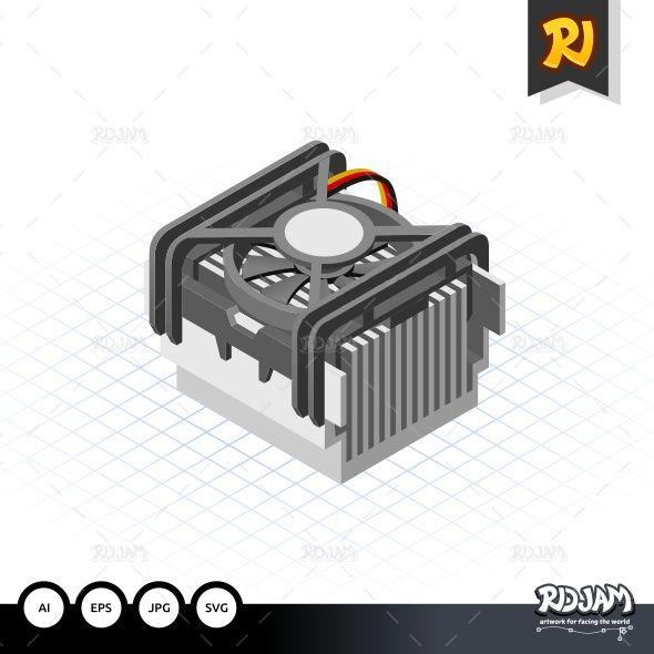 Isometric Fan Processor Socket 478