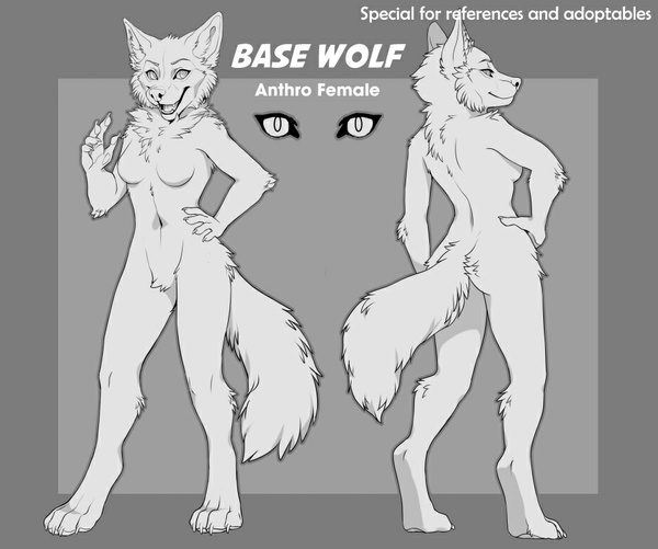 Base Wolf anthro (Female)