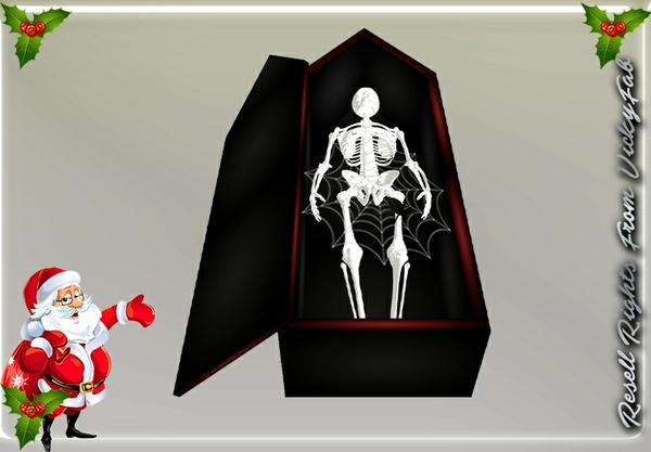 Halloween Coffin & Skeleton Mesh Catty Only!!!