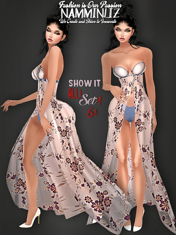 Show It All! SET1 Bibirasta Dress All sizes PNG