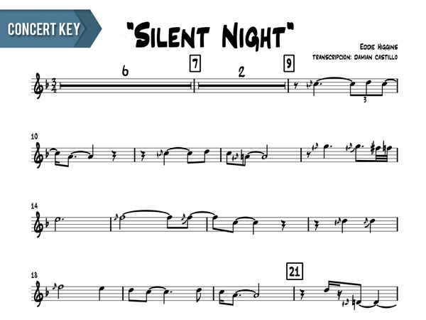"Eddie Higgins - ""Silent Night"" - Concert Key"