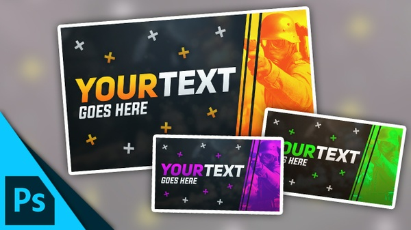 Gaming Thumbnail Template | Free Photoshop Template [Fully Customisable]