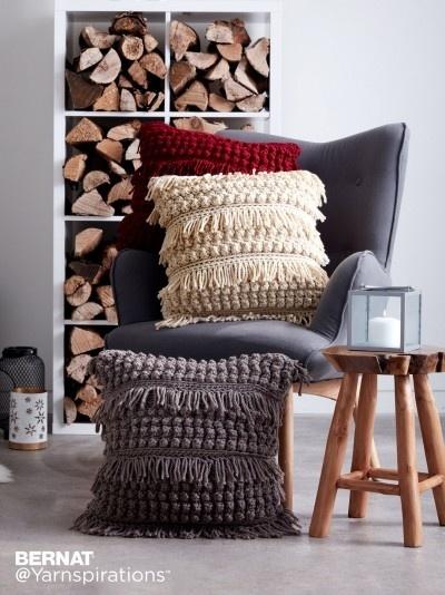 Textured Crochet Pillows