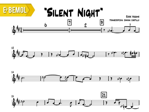"Eddie Higgins - ""Silent Night"" - Eb"
