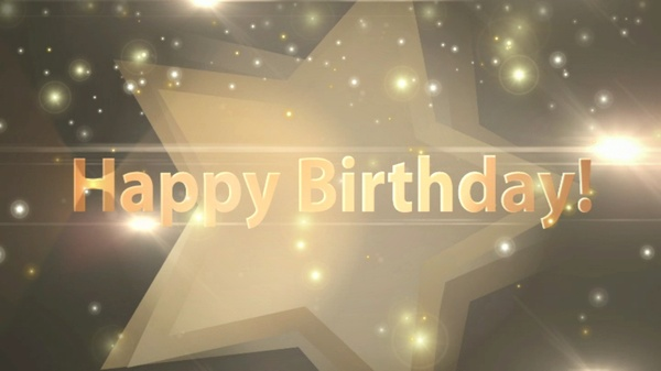 Beautiful Stars Happy Birthday Wishes with HBD song in it