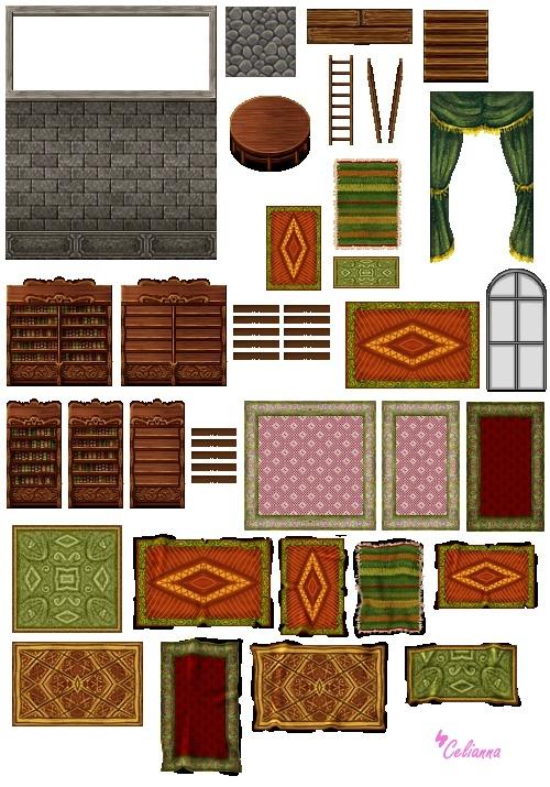 """Celianna's Parallax Tiles """"Library Tiles"""""""