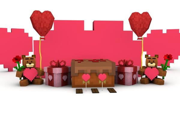 Minecraft Valentines Pack Rig | Cinema 4D
