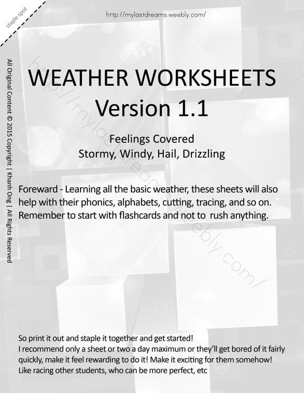 MLD - Basic Weather Worksheets - Part 2 - Letter Sized