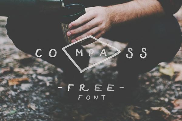 Compass $2 font