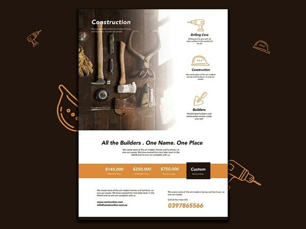 Freebie Fyer  Builder Construction Flyer Template