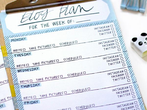 Blog Plan (week in black and white)
