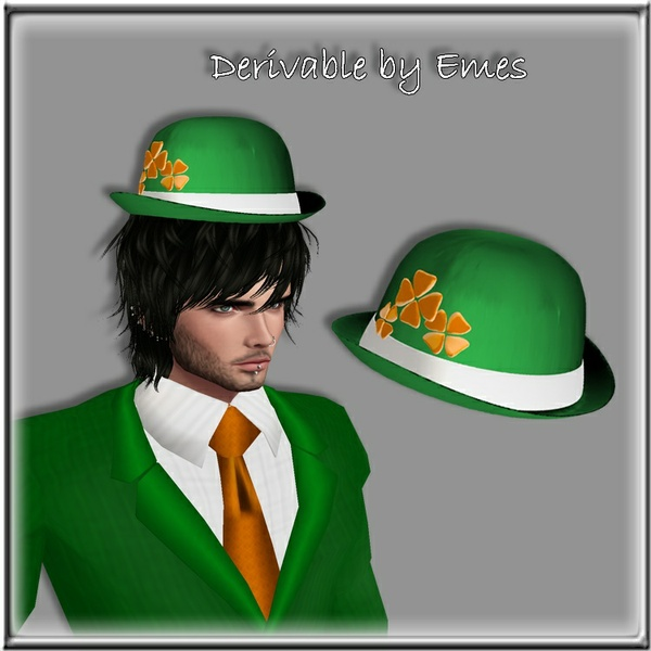 IRISH HAT MESH MALE V2 (same  mesh but mapped differently)