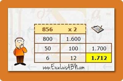 Calcular dobles, con el algoritmo ABN v1.1.