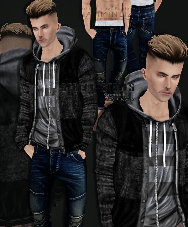 StreetStyles combo3 imvu  Top + Jeans