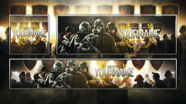 Rainbow Six Siege - Pro League - Revamp Template Pack - Photoshop