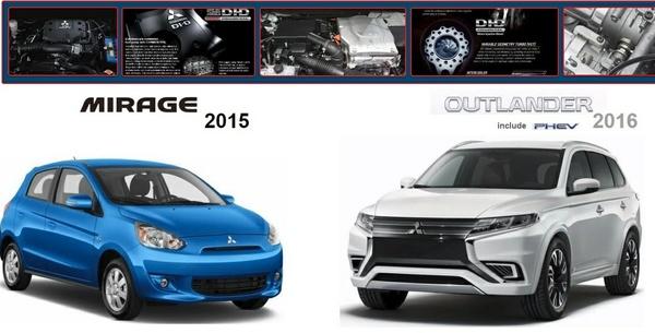 Mitsubishi Outlander 2016 & Mirage 2015 Workshop Manual
