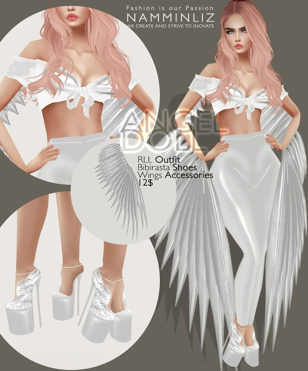 ANGEL DOLL (RLL Outfit, Bibirasta Shoe, wings Accessories)