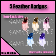5 Feather Badges