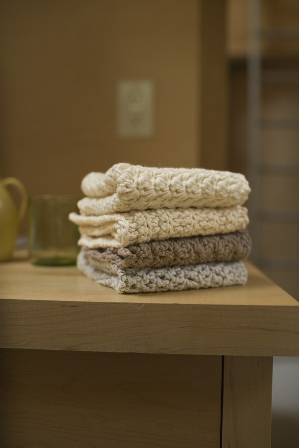 Crochet Pack of 4 Washcloths