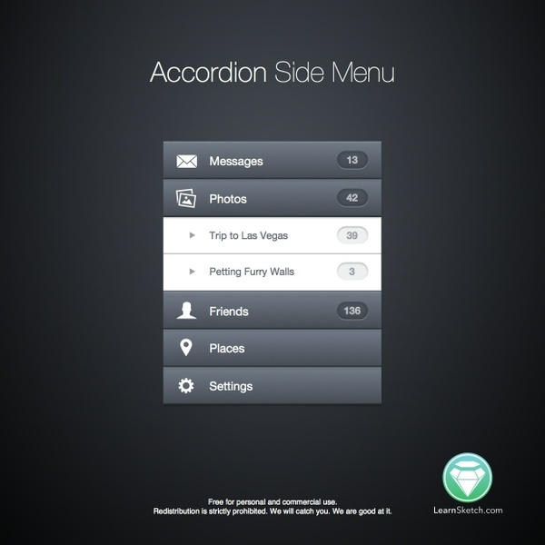 Accordion Side Menu