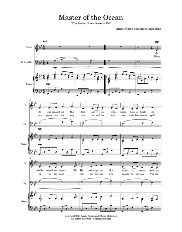 The Savior Gives Peace to Me - Bundle - Piano Minus Track, Song MP3, Piano/Cello/Vocal Scores