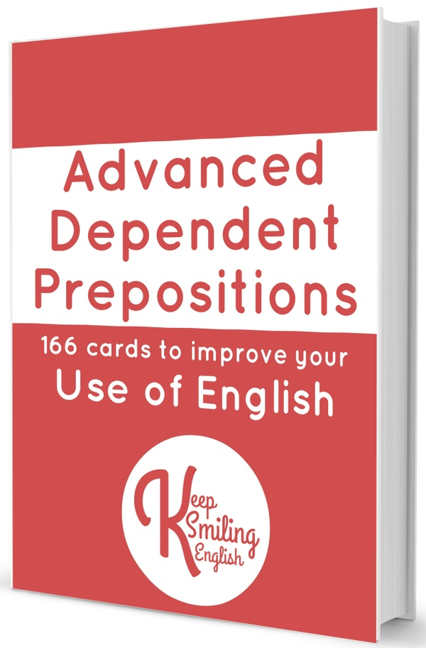 Advanced Dependent Prepositions Cards