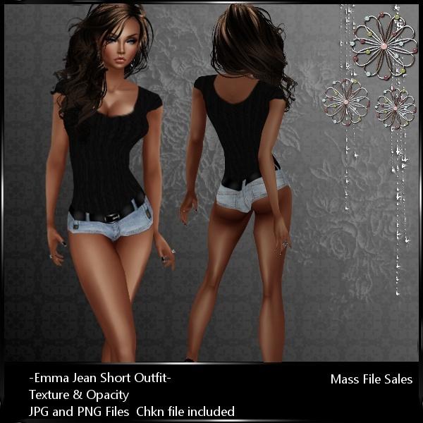 IMVU Textures Emma Jean Shorts AP Outfit