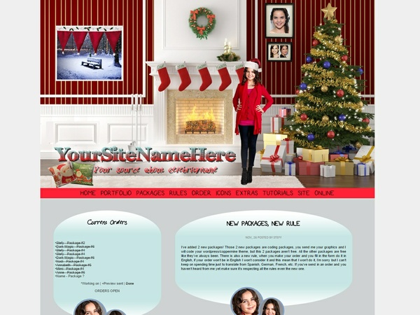 Wordpress premade #1 - Xmas theme