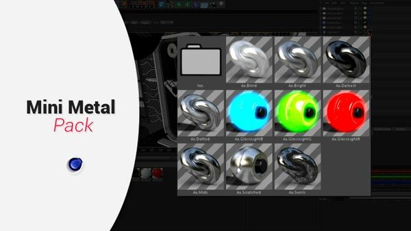 Mini Metal Material Pack for C4D
