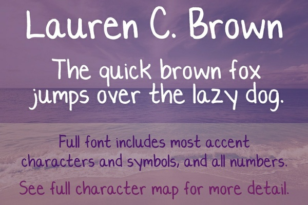 Lauren C. Brown Font - General Commercial License