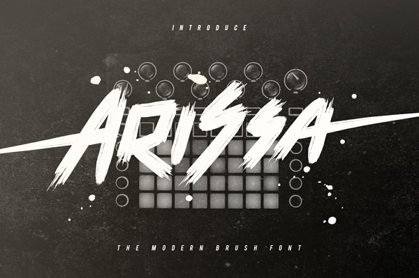 Arissa Typeface Brush Font Handmade
