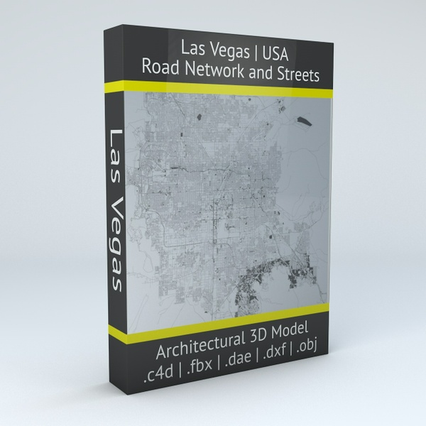 Las Vegas Road Network Architectural 3D Model