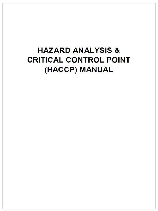 HACCP Manual Template