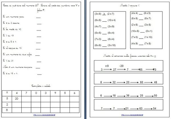 esercizi di matematica per la classe seconda