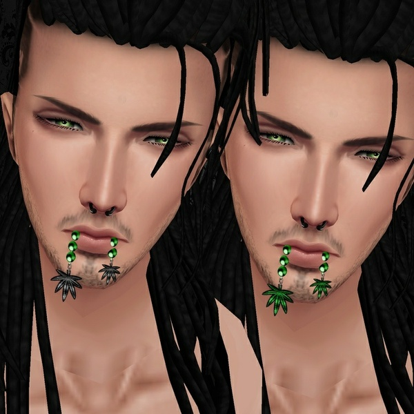 Male Green Pearls w/Weed Mouth - W/Resell Rights