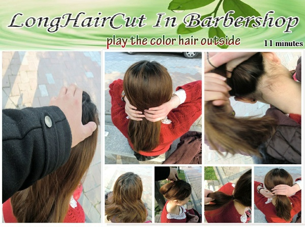 play the color hair outside