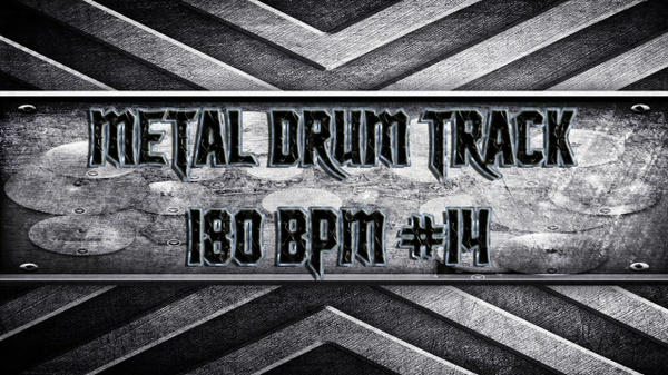 Metal Drum Track 180 BPM #14