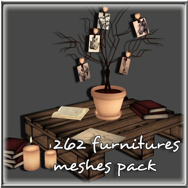 Furnitures Bundle 262 Meshes