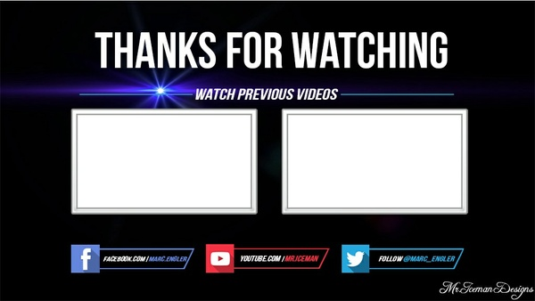 Sony Vegas Outro Template | Clean Outro Template Millenium Sony Vegas File
