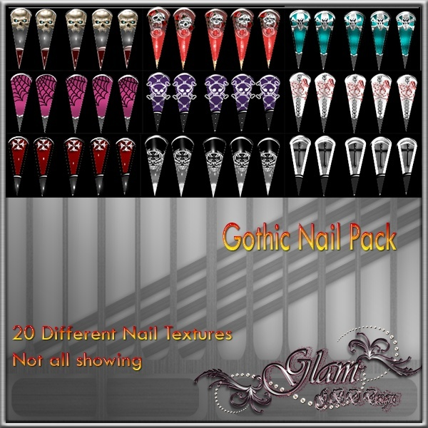 Gothic Nail Pack Resell Rights!!!! 0/6 People