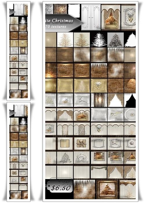 [J] 70 Textures White  Christmas
