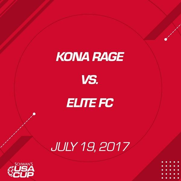 Boys U14 Gold - July 19, 2017 - Kona Rage vs Elite FC